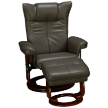 Benchmaster Carmel Leather Chair and Storage Ottoman