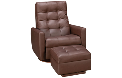 American Leather Como Leather Comfort Air Chair and