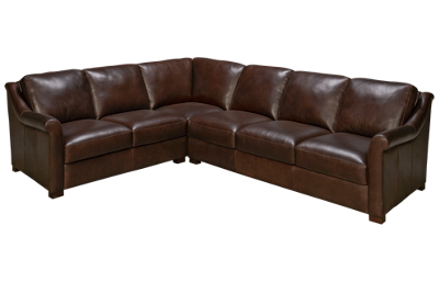 Soft Line Everest 2 Piece Leather Sectional