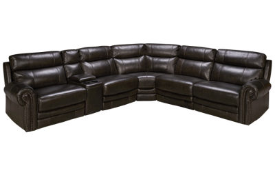 HTL Furniture Boddington 2 Leather Power 6 Piece