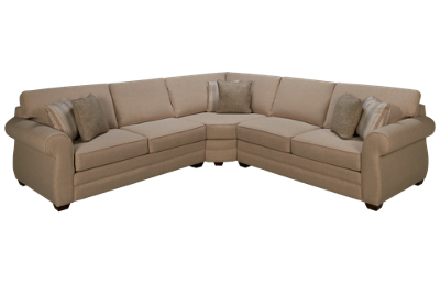 Klaussner Home Furnishings Clanton 3 Piece Sectional