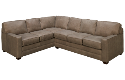 Klaussner Home Furnishings Selection 2 Piece Leather Sectional