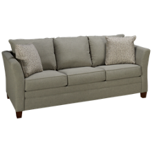 Klaussner Home Furnishings Taylor Queen Sleeper Sofa with Memory Foam Mattress