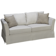 Klaussner Home Furnishings Taylor Full Sleeper Loveseat with Memory Foam Mattress