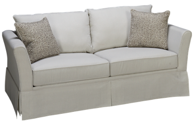 Klaussner Home Furnishings Taylor Full Sleeper Loveseat with Innerspring Mattress