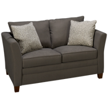 Klaussner Home Furnishings Taylor Twin Sleeper Loveseat with Memory Foam Mattress