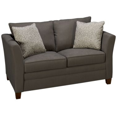 Klaussner Home Furnishings Taylor Twin Sleeper Loveseat with Innerspring  Mattress
