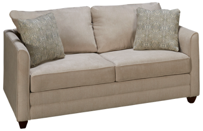 Klaussner Home Furnishings Tilly Full Sleeper Loveseat with Memory Foam Mattress
