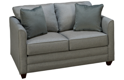 Klaussner Home Furnishings Tilly Twin Sleeper Loveseat with Innerspring Mattress