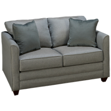 Klaussner Home Furnishings Tilly Twin Sleeper Loveseat with Memory Foam Mattress