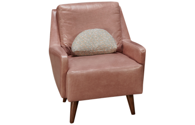 Jonathan Louis Design Lab Leather Accent Swivel Chair with Toss Pillow