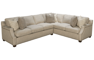 Klaussner Home Furnishings Kash 2 Piece Sectional