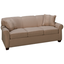 Klaussner Home Furnishings Mayhew Queen Sleeper Sofa with Memory Foam Mattress