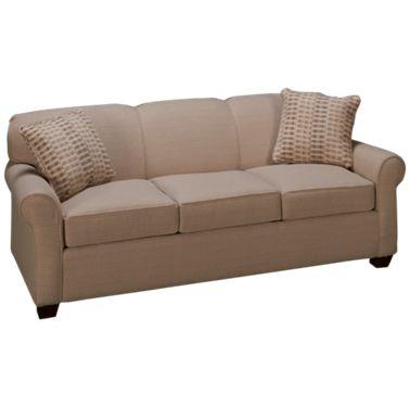 Klaussner Home Furnishings Mayhew Queen Sleeper Sofa With Innerspring Mattress