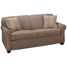 Klaussner Home Furnishings Mayhew Full Sleeper Loveseat with Memory Foam