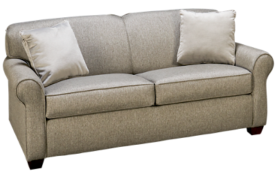 Klaussner Home Furnishings Mayhew Full Sleeper Loveseat with Memory Foam Mattress