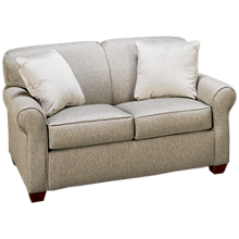 Klaussner Home Furnishings Mayhew Twin Sleeper Loveseat with Innerspring Mattress