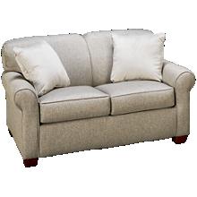 Klaussner Home Furnishings Mayhew Twin Sleeper Loveseat with Memory Foam Mattress