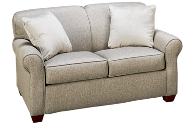Klaussner Home Furnishings Mayhew Twin Sleeper Loveseat with Memory Foam Mattress