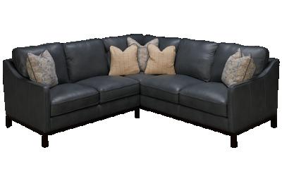 Simon Li Luxe Leather 2 Piece Sectional