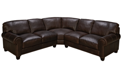 Soft Line Madison 3 Piece Leather Sectional