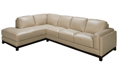 Futura Biscayne 2 Piece Leather Sectional
