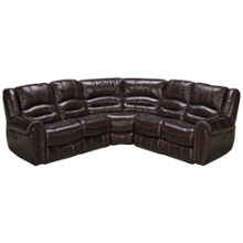Flexsteel  Crosstown 3 Piece Leather Power Reclining Sectional