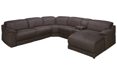 HTL Furniture Slater Power 6 Piece Reclining Sectional