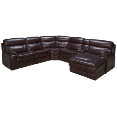 HTL Furniture Branson 6 Piece Leather Sectional