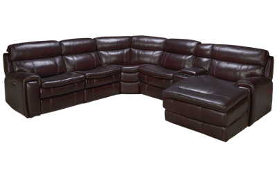 HTL Furniture Branson Leather Power 6 Piece Reclining