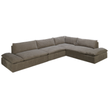 American Leather Versa 4 Piece Sectional