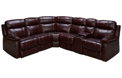 HTL Furniture Courtney Leather Power 6 Piece Reclining