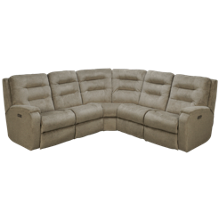Flexsteel Arlo 5 Piece Power Reclining Sectional with Tilt Headrest