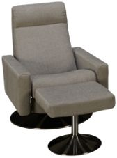 American Leather Cloud Comfort Air Chair and Ottoman