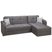 Istikbal Vision 2 Piece Convertible Sectional with Storage and Chaise