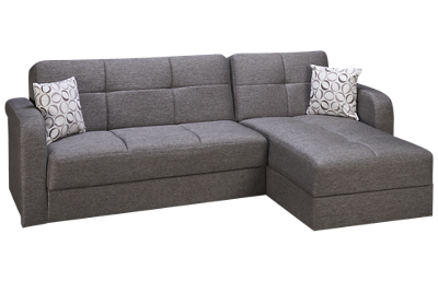 Istikbal Vision 2 Piece Convertible Sectional with Storage