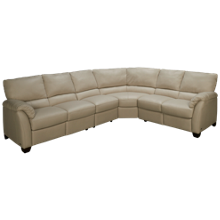 Natuzzi Editions Donato 4 Piece Power Leather Sectional