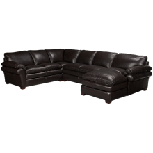 Futura Hogan 3 Piece Leather Sectional