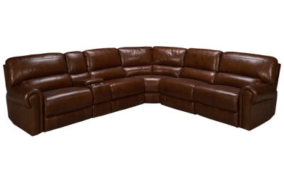 Era Nouveau Norton 6 Piece Leather Sectional