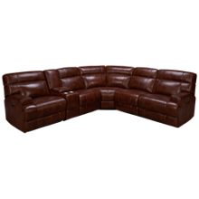 Era Nouveau Casper 6 Piece Leather Sectional