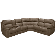 Synergy Larue 3 Piece Reclining Sectional with Console and Power Tilt Headrest