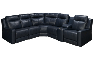 Palliser Redwood Leather Power 6 Piece Reclining Sectional