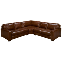 Soft Line Pista 3 Piece Leather Sectional