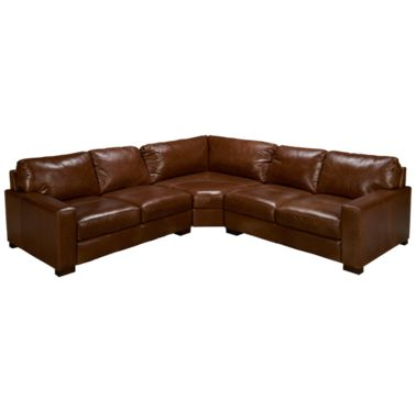 Superb Soft Line Pista 3 Piece Leather Sectional Caraccident5 Cool Chair Designs And Ideas Caraccident5Info