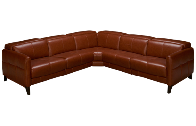 HTL Furniture Brandy Leather Power 3 Piece Reclining