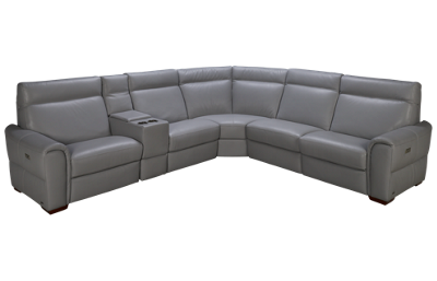 Natuzzi Editions Energia 6 Piece Leather Sectional