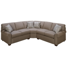 Klaussner Home Furnishings Sun Pattern 3 Piece Sectional