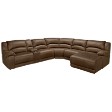 HTL Furniture Eliza Power 6 Piece Reclining Sectional with Console