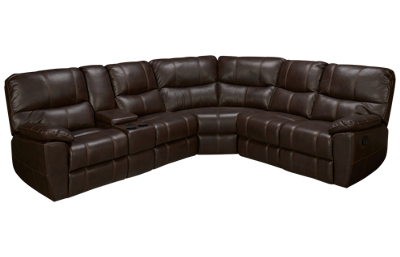 Synergy Rancher 3 Piece Power Reclining Sectional with