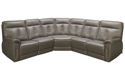 Palliser Oakley 5 Piece Leather Reclining Sectional with 2 Recliners with Tilt Headrest
